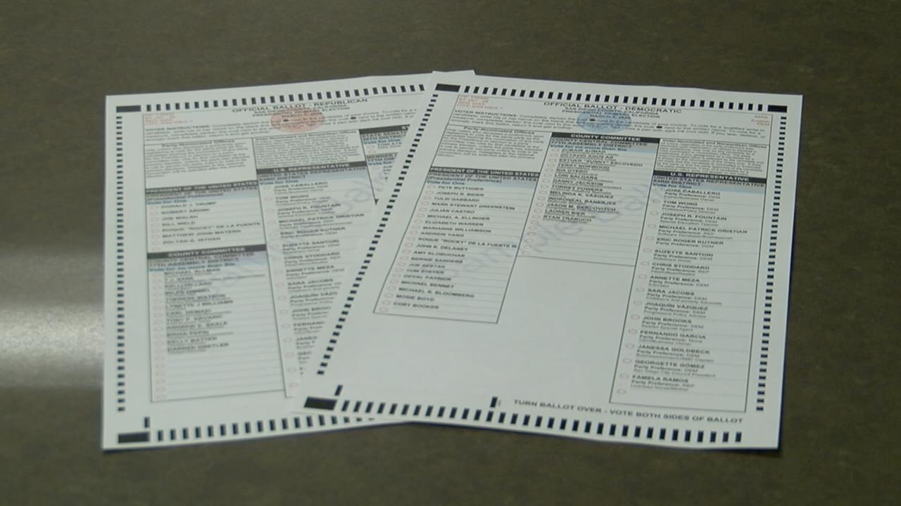 2020 California Primary ballots