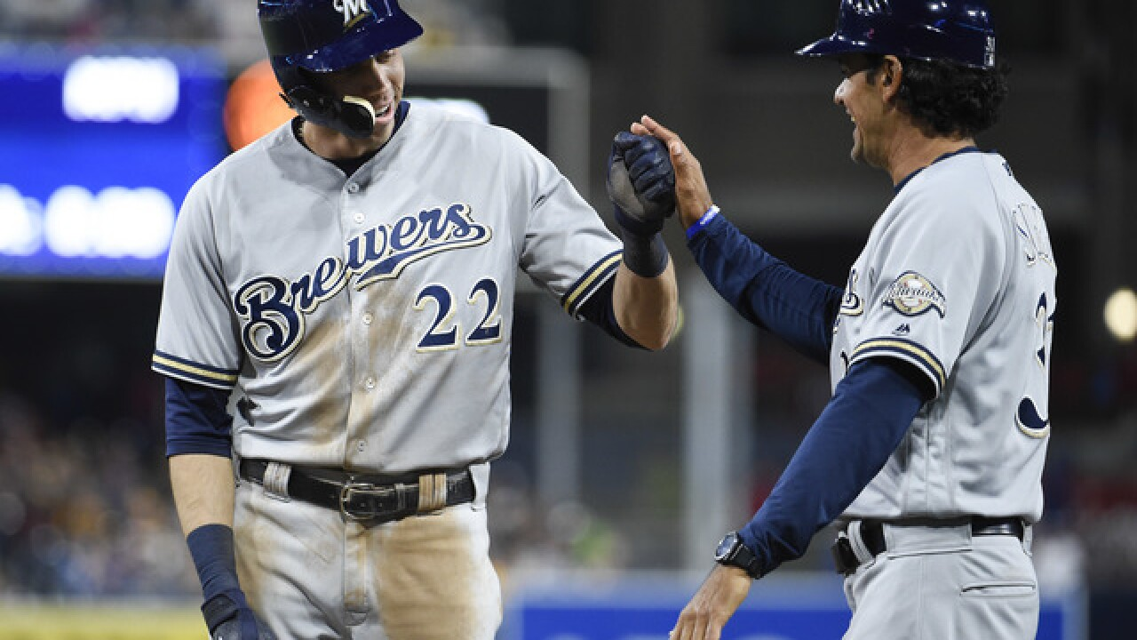 Yelich ties career high with 5 hits in Brewers' 7-3 win