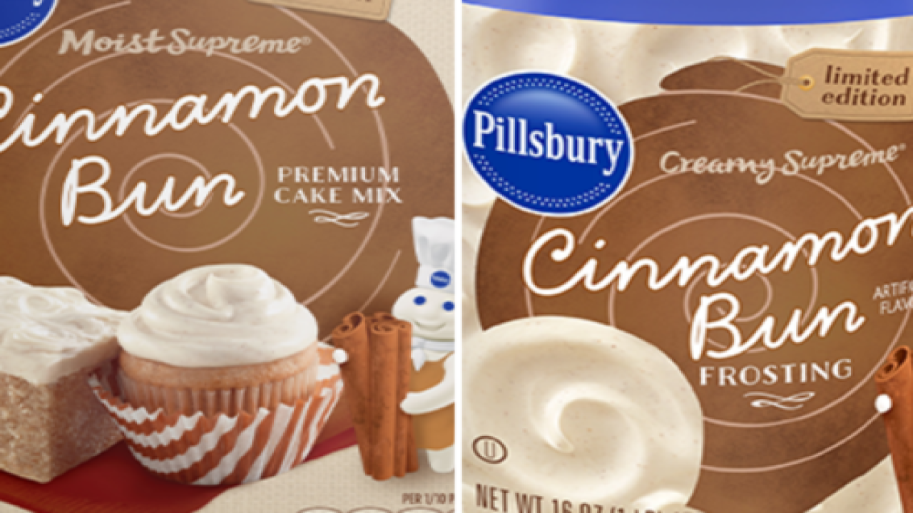 Pillsbury Has Cinnamon Bun Cake Mix And Frosting