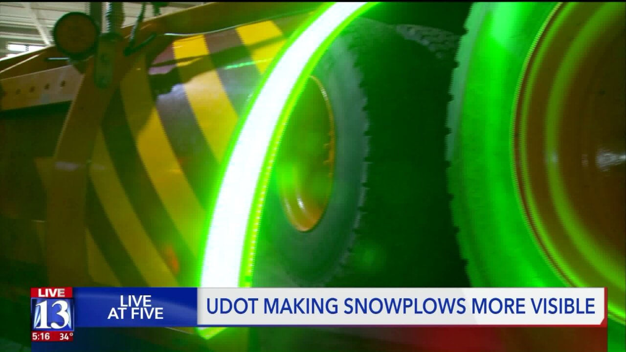UDOT testing out new way to make snowplowsglow
