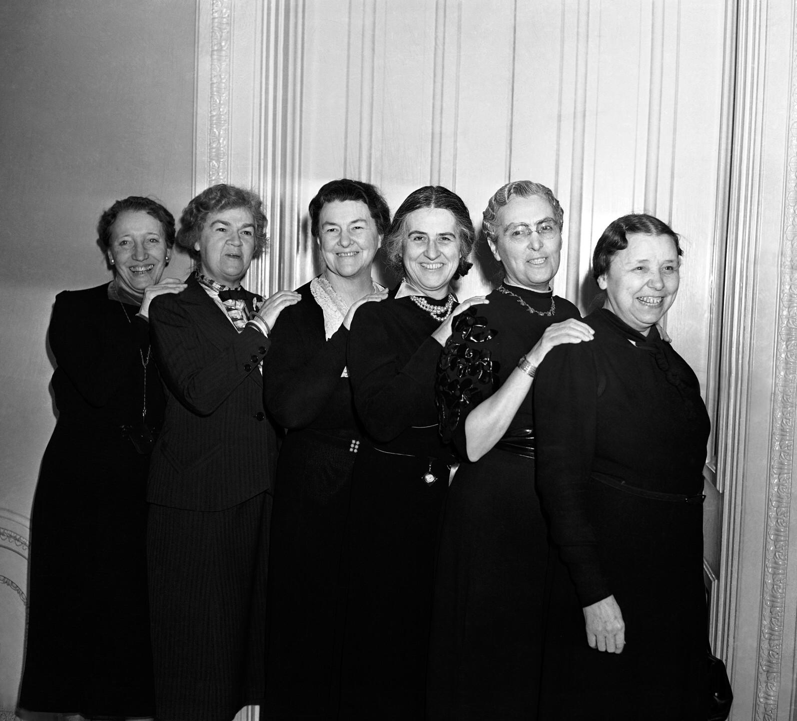 Edith Nourse Rogers, Caroline O'Day, Mary Norton, Nan Honeyman, Virginia Jenckes, Hatty Carraway