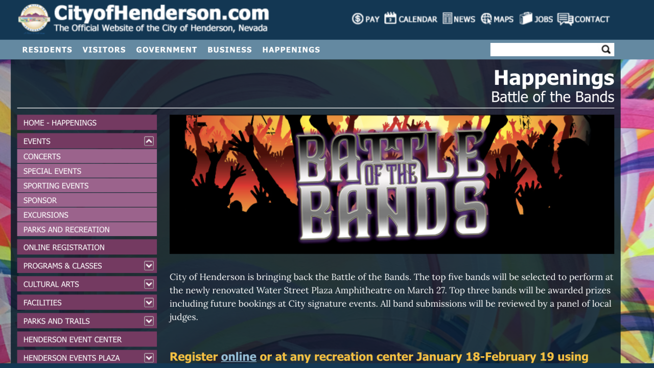 battle of the bands henderson