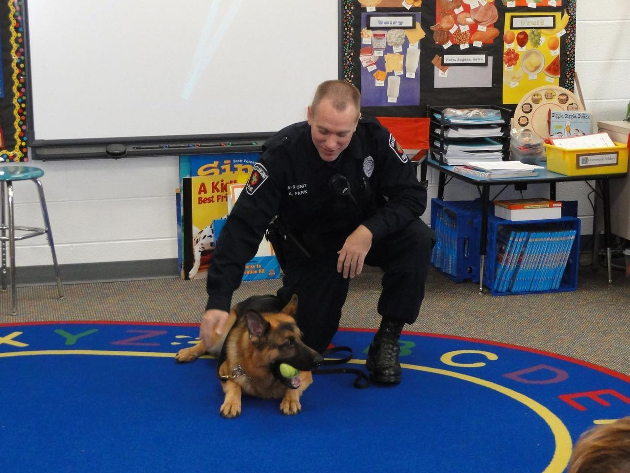 Sgt. Parks and Retired K-9 Max