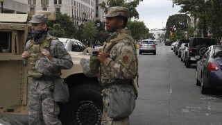 Soldiers were issued bayonets for DC unrest