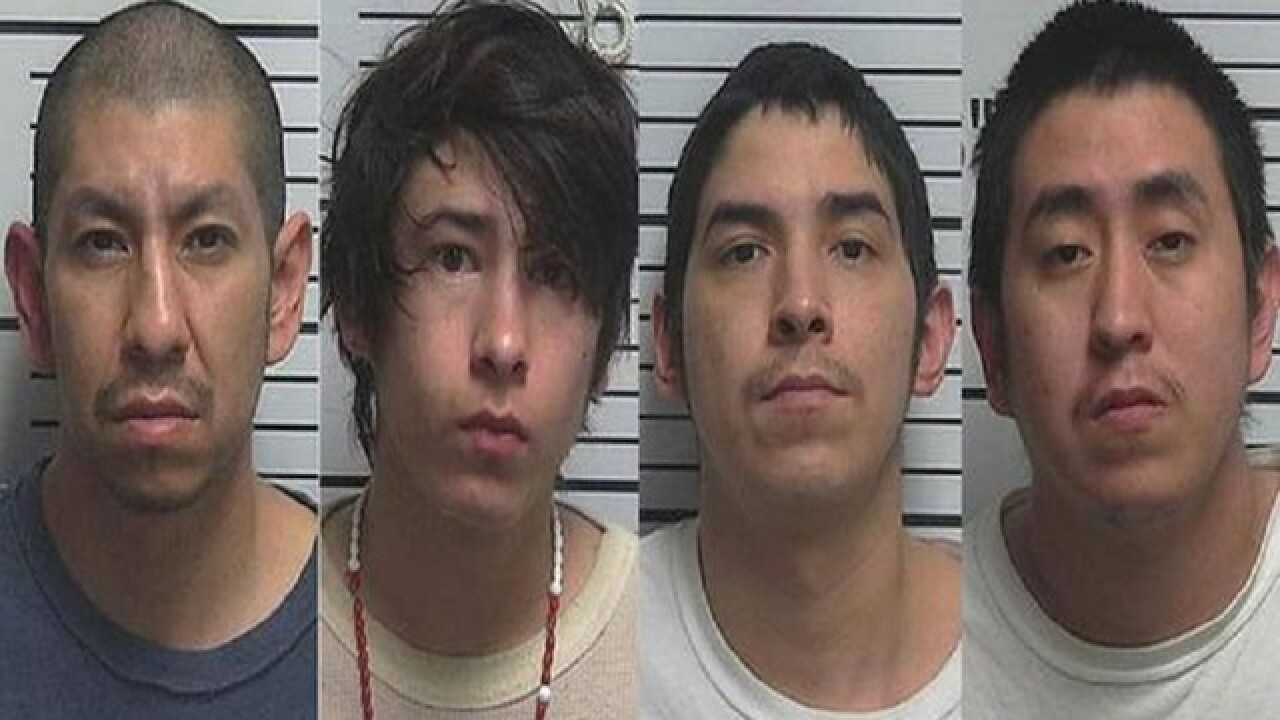 Cops: 4 Utah men rape girl while mom smokes meth