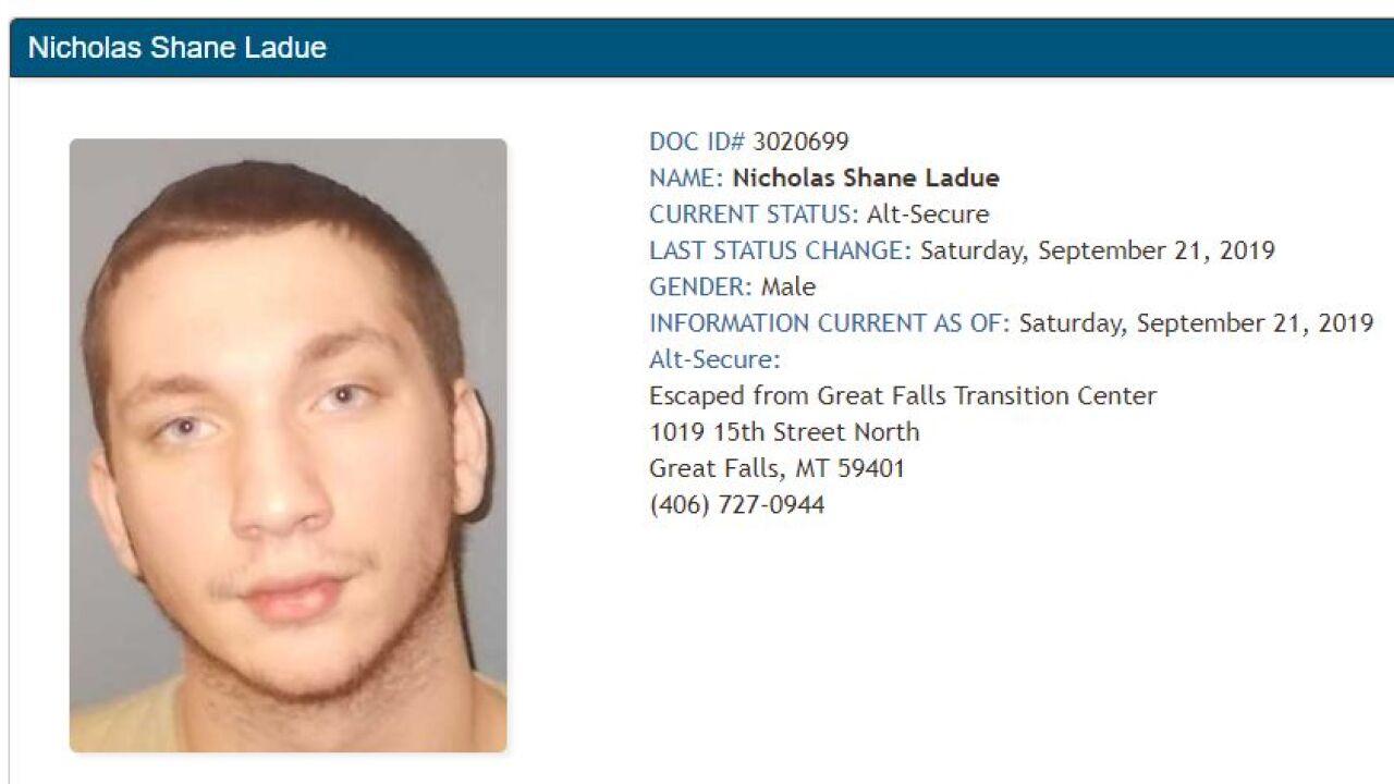 Ladue on MT Dept of Corrections website