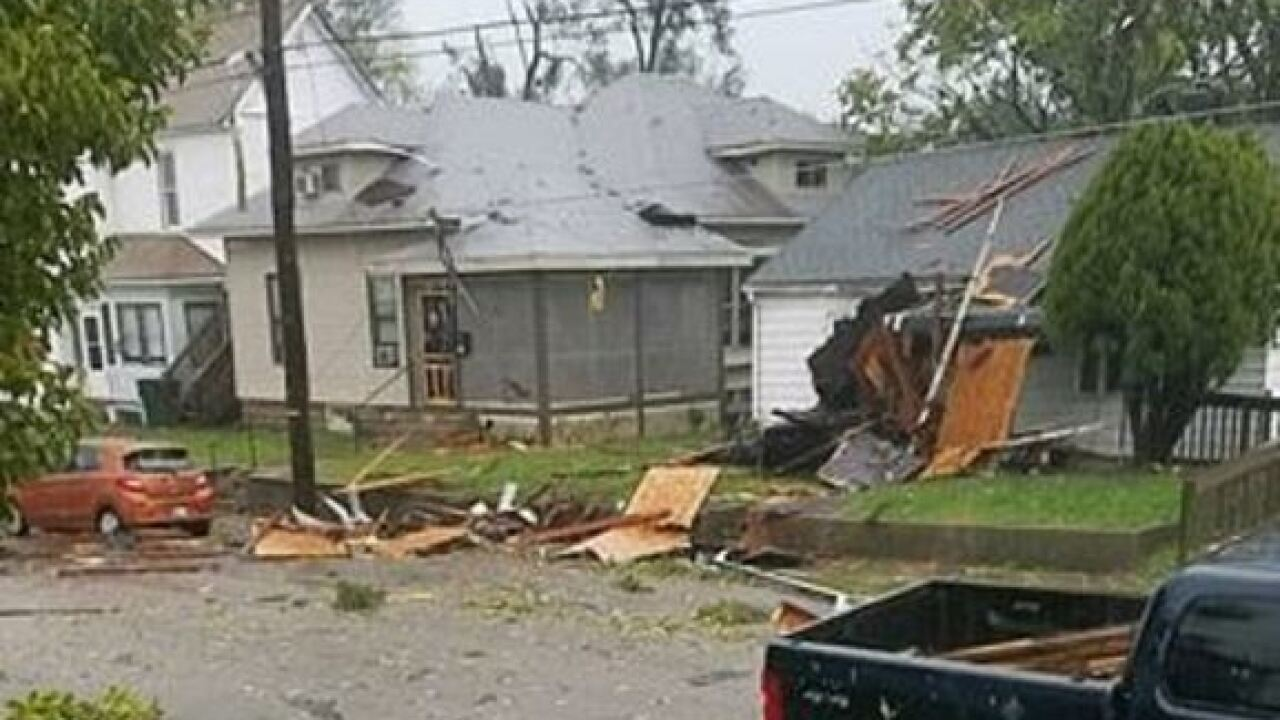 Severe storms, possible tornado batter C.Indiana