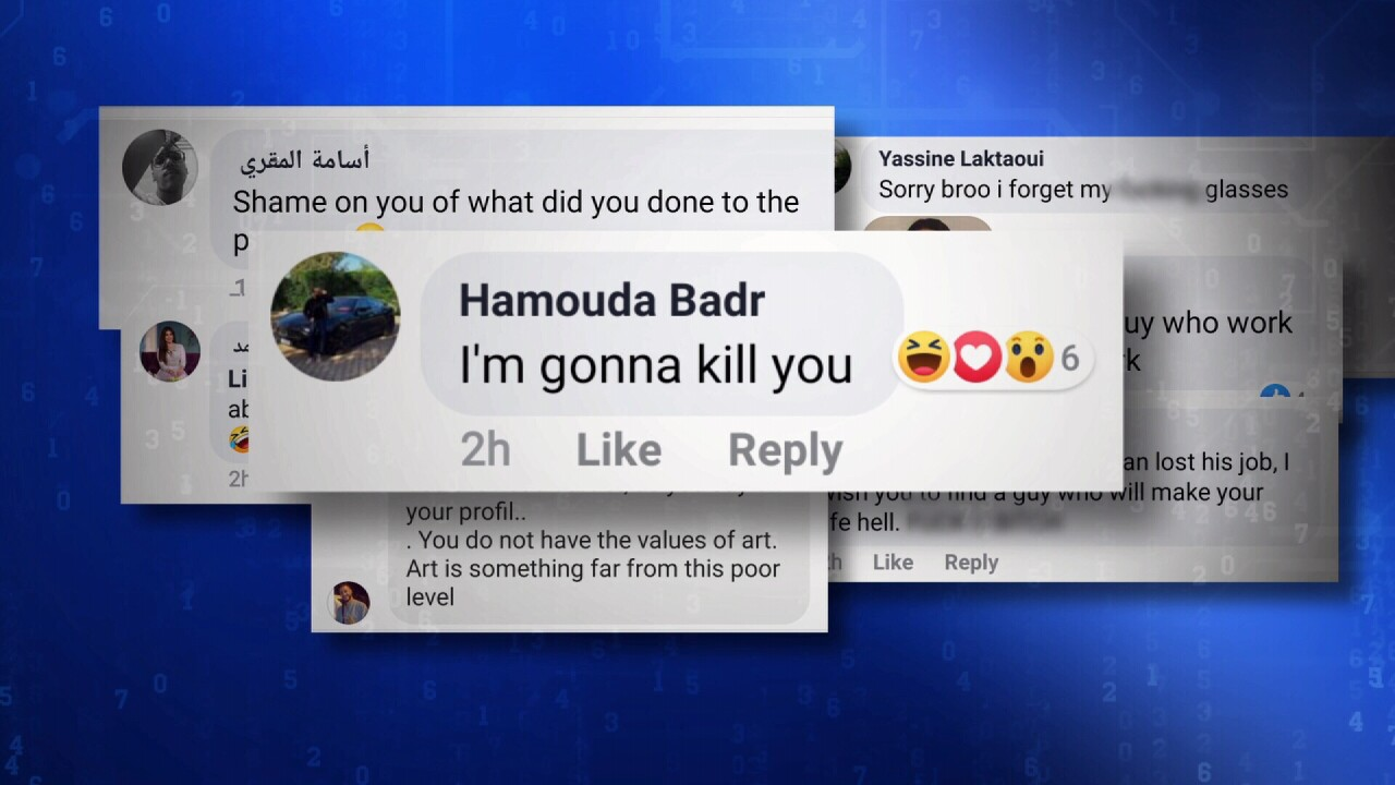 Threats and insults came pouring in on social media