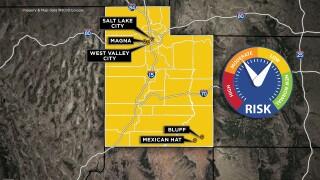 Utah yellow map