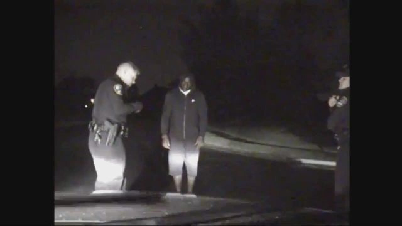 Mathis' arrest video shows sobriety tests