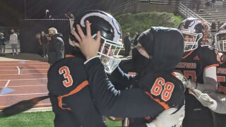Caden Currie celebrates after the game winner