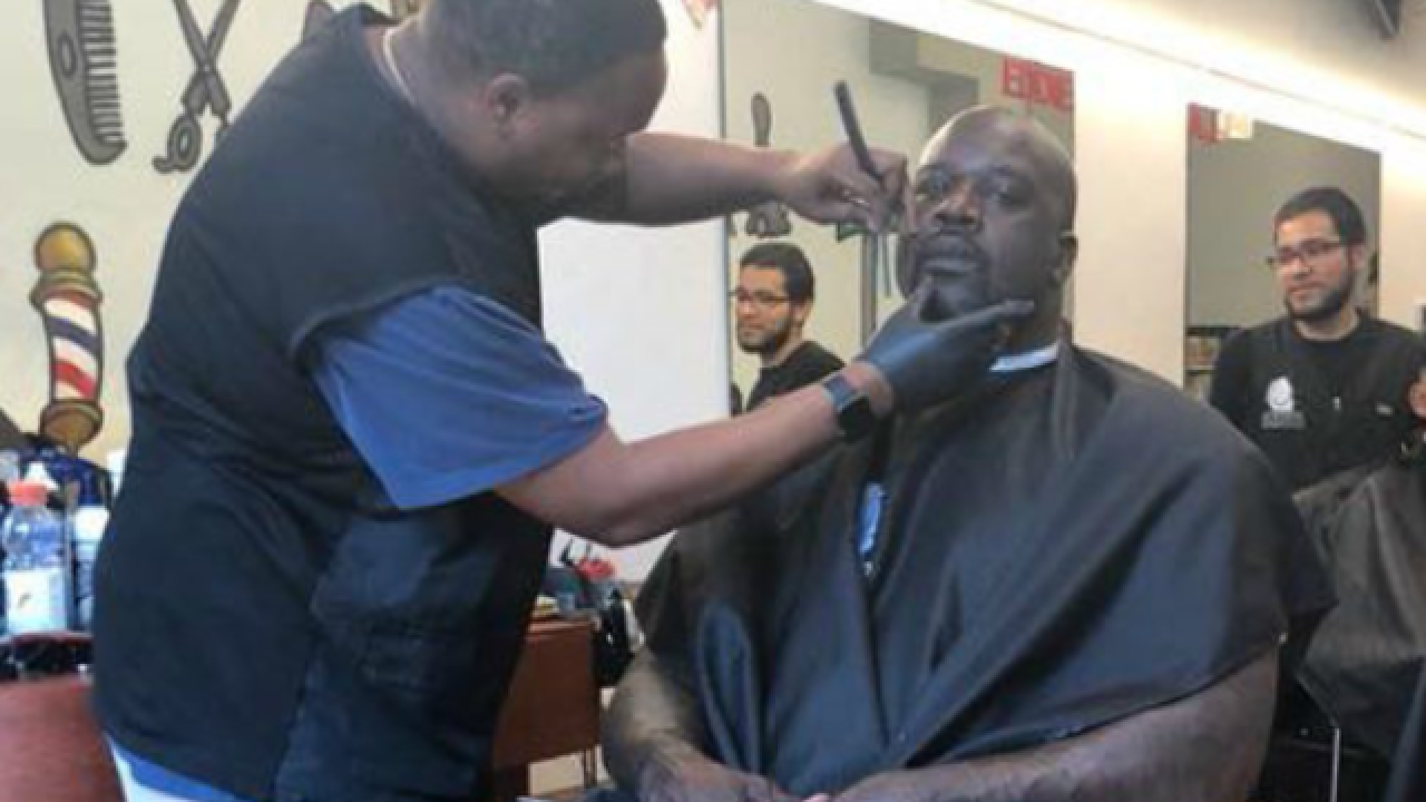 Shaq Daddy drops by Madison barbershop