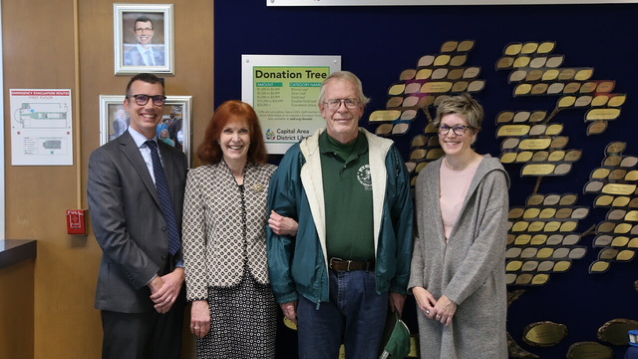 Capital Area District Libraries Receives Donation from Stober Family