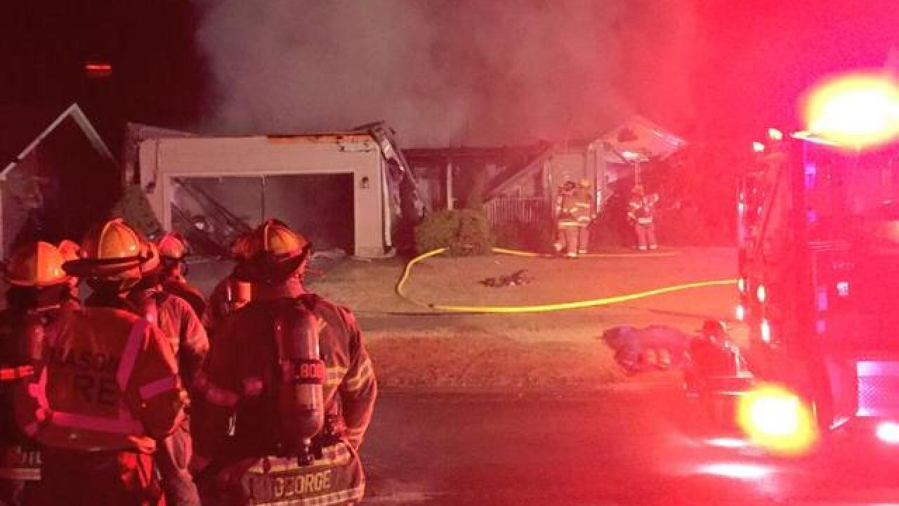 Fire rips through home in Holt