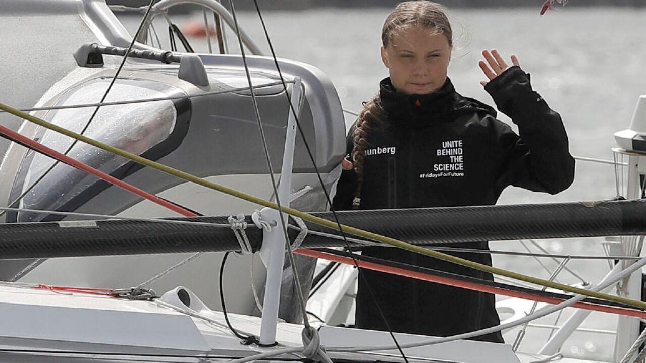 Watch: Greta Thunberg starts UN sailing trip from Hampton's Salt Pondsmarina