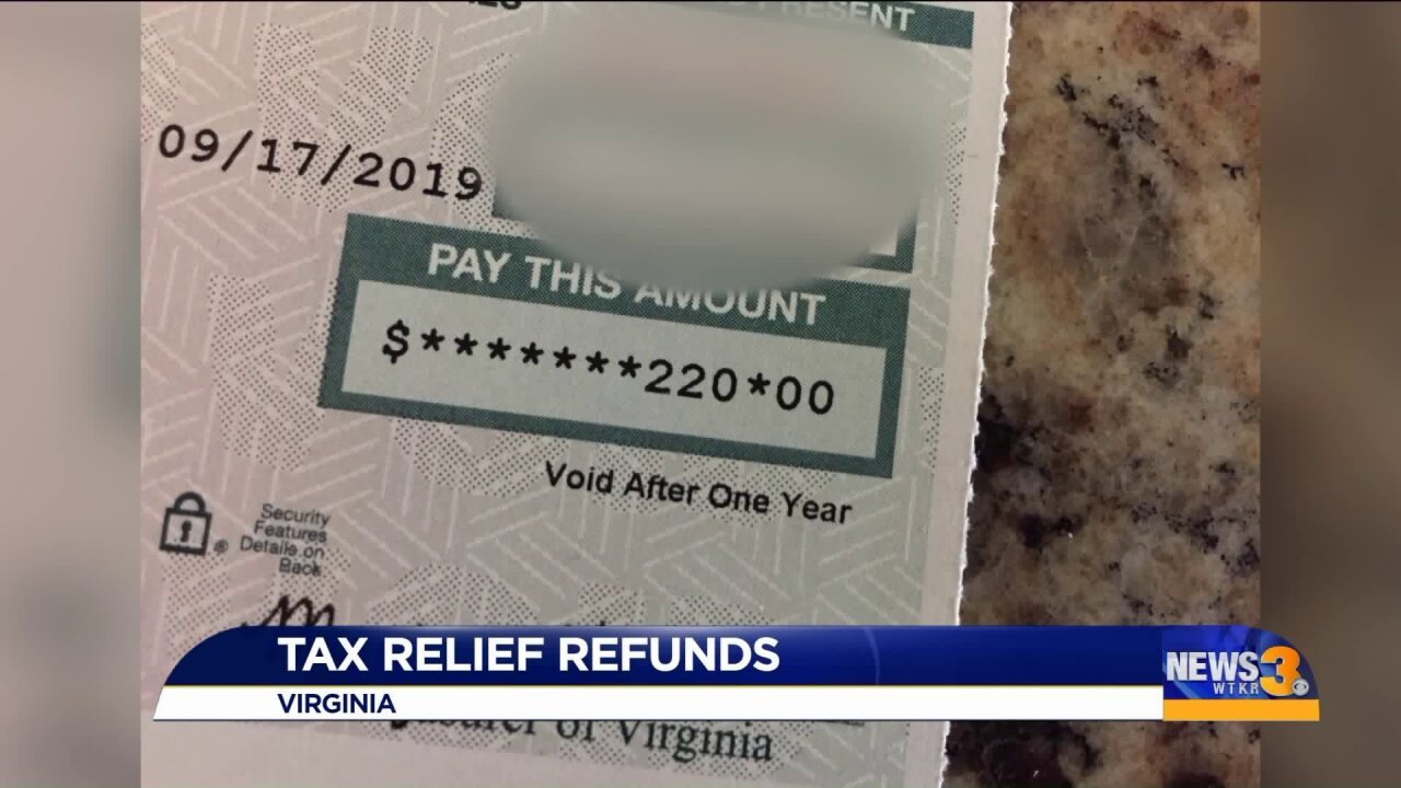 Keep a close eye on your mail, a 'Tax Relief Refund' check could be on its way