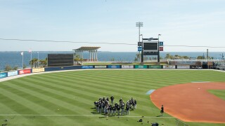 The Pensacola Blue Wahoos are offering access to their clubhouse, a large bedroom, the batting cage and the field.