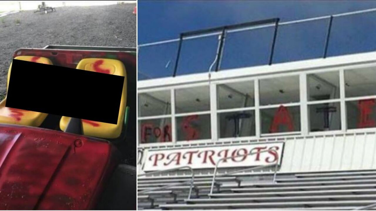 Racist graffiti found at football field leaves Hanover school leaders 'disgusted'