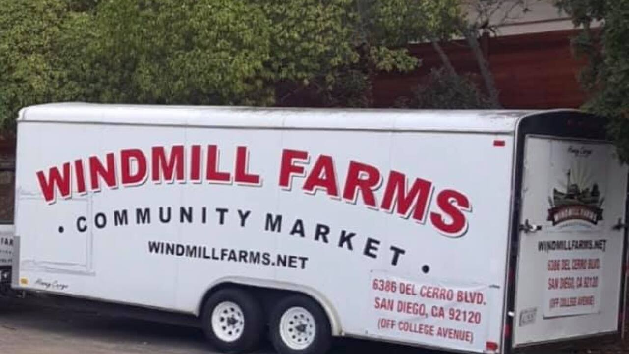Thieves steal trailer of equipment from Windmill Farms in