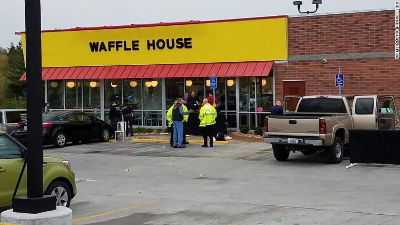 Waffle House shooting suspect may be armed, police say