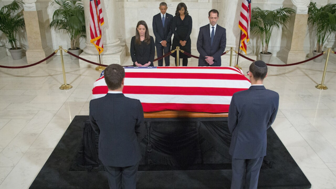 Supreme Court Justice Scalia's funeral today