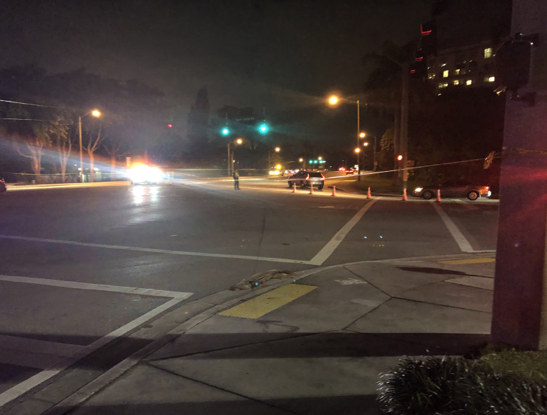 Police block off intersection after shooting near Shops at Boca Center