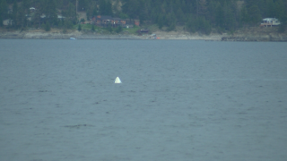 Boat sinks at Canyon Ferry Lake during storm