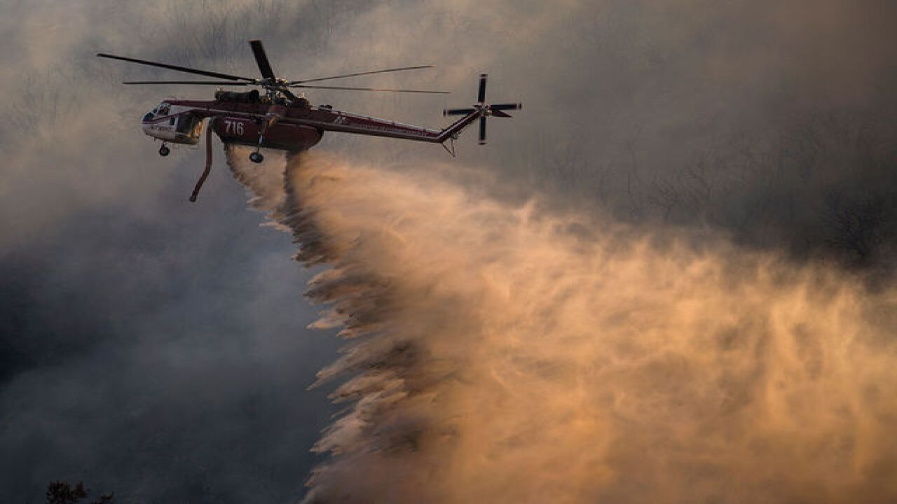 SLIDESHOW: 96 homes burn in California wildfire