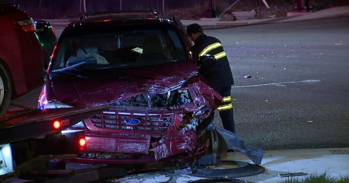 Akron man crashes car, violates protection order by having