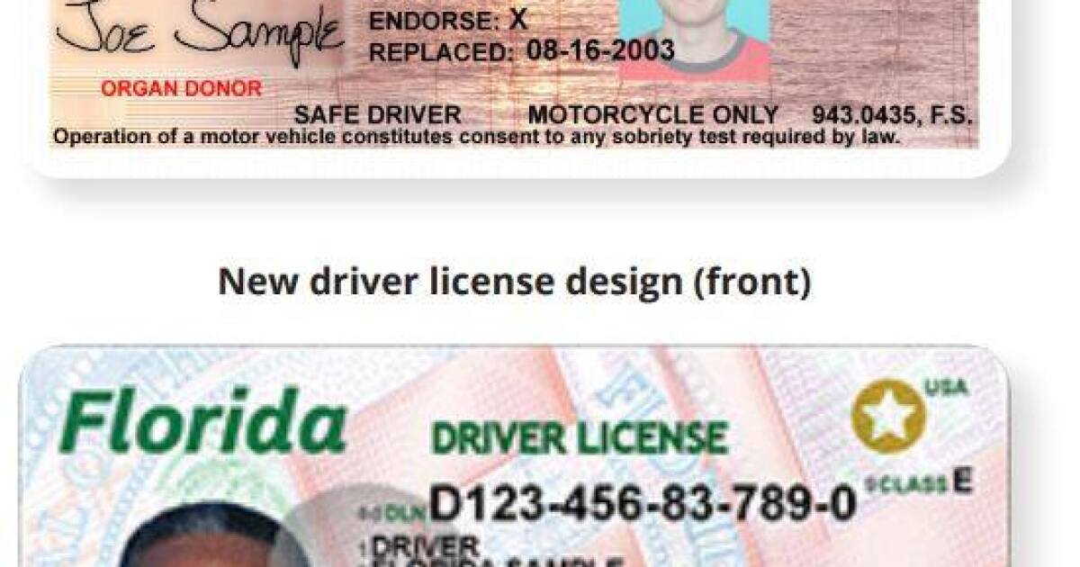Just over a year to update your drivers license in Florida