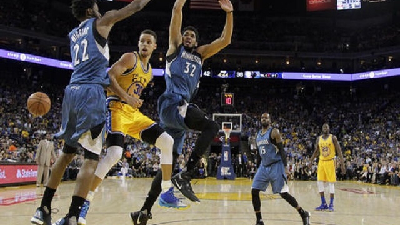Timberwolves shock Warriors 124-117 in overtime