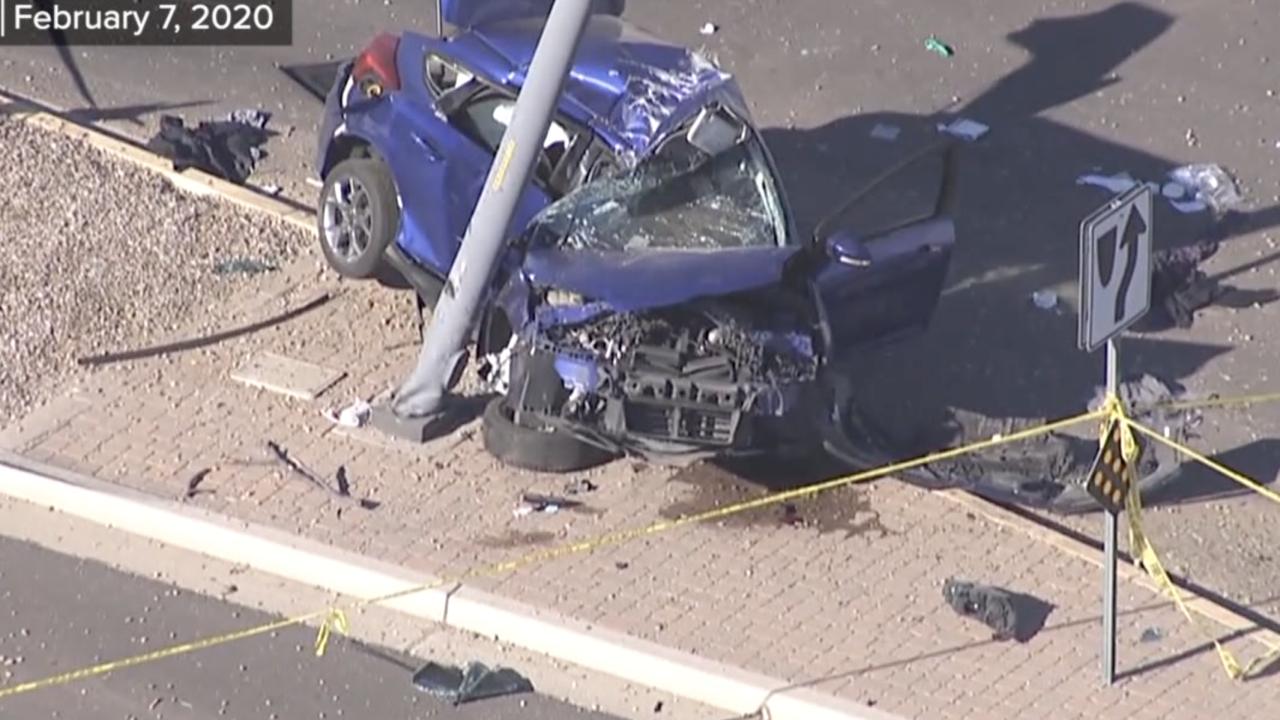 Teen dies in crash at Recker and Pecos Road