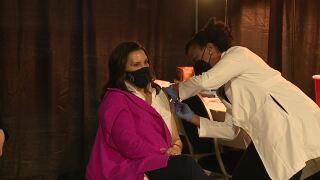 Gov. Gretchen Whitmer gets COVID-19 vaccine
