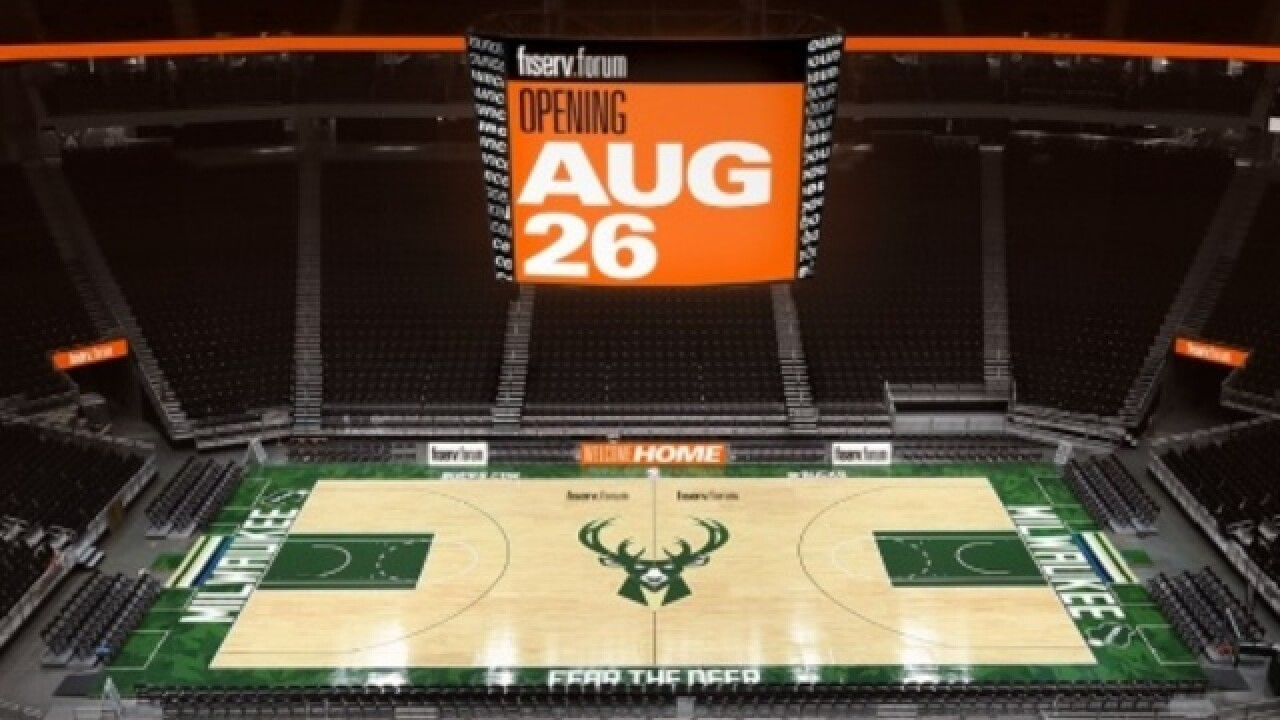 Milwaukee Bucks to play 1st game at Fiserv Forum on Oct. 3 against the Chicago Bulls