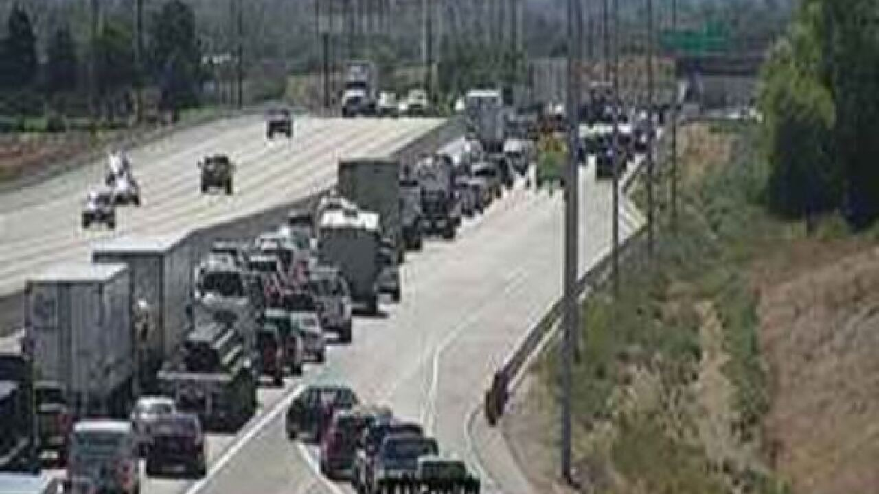 TRAFFIC ALERT: Crash Blocking Westbound I-84 Near Garrity