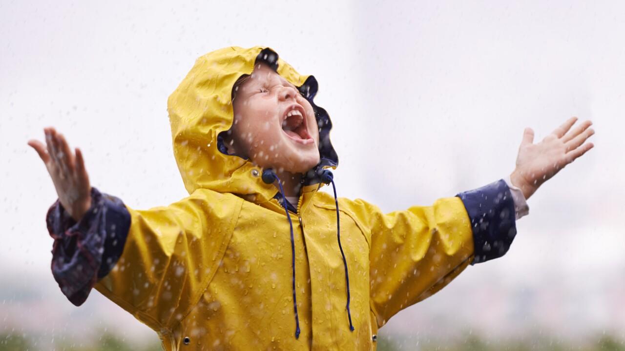Wx Child with raincoat