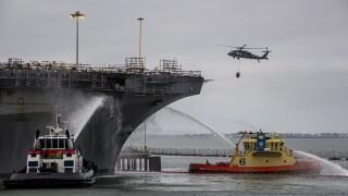 USS Bonhomme Richard Fire Recovery Efforts
