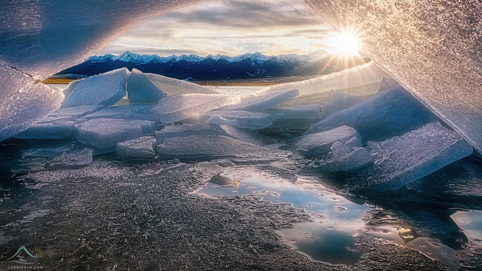 DeWeese Reservoir Ice Cave Sunset Lars Leber Photography.jpg