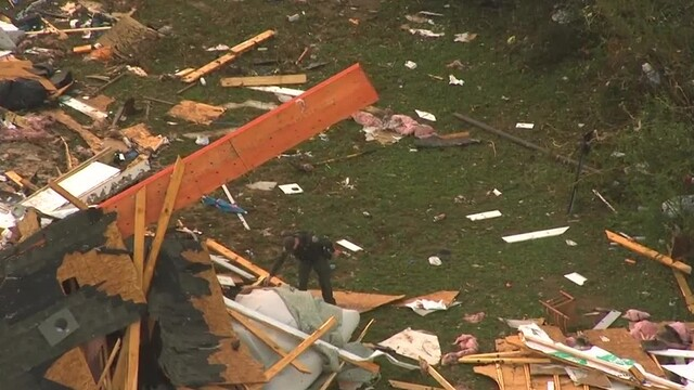 Photos: Sky 5 flies over Rutherford County storm damage