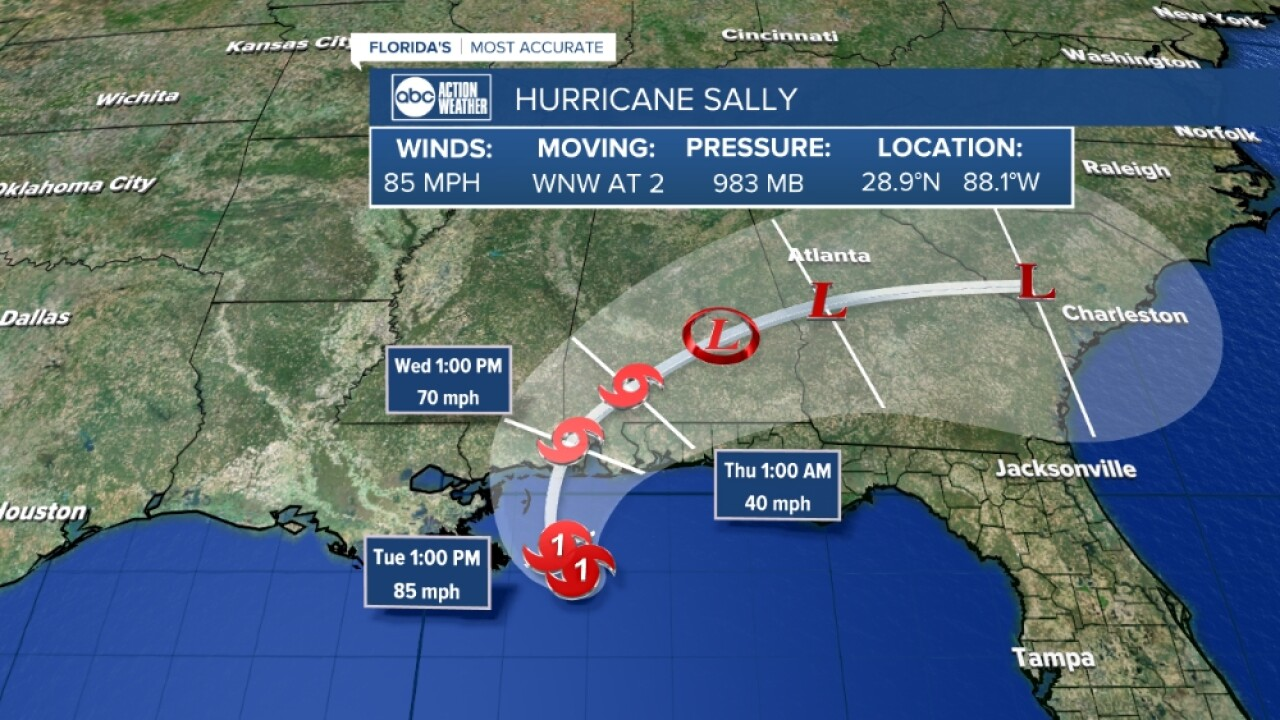 Hurricane Sally Historic Flooding Possible For Part Of Northern Gulf Coast