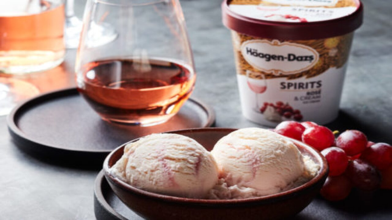 Häagen-Dazs' Newest Ice Cream Flavors Are Rosé And Cream And Whiskey Hazelnut Latte