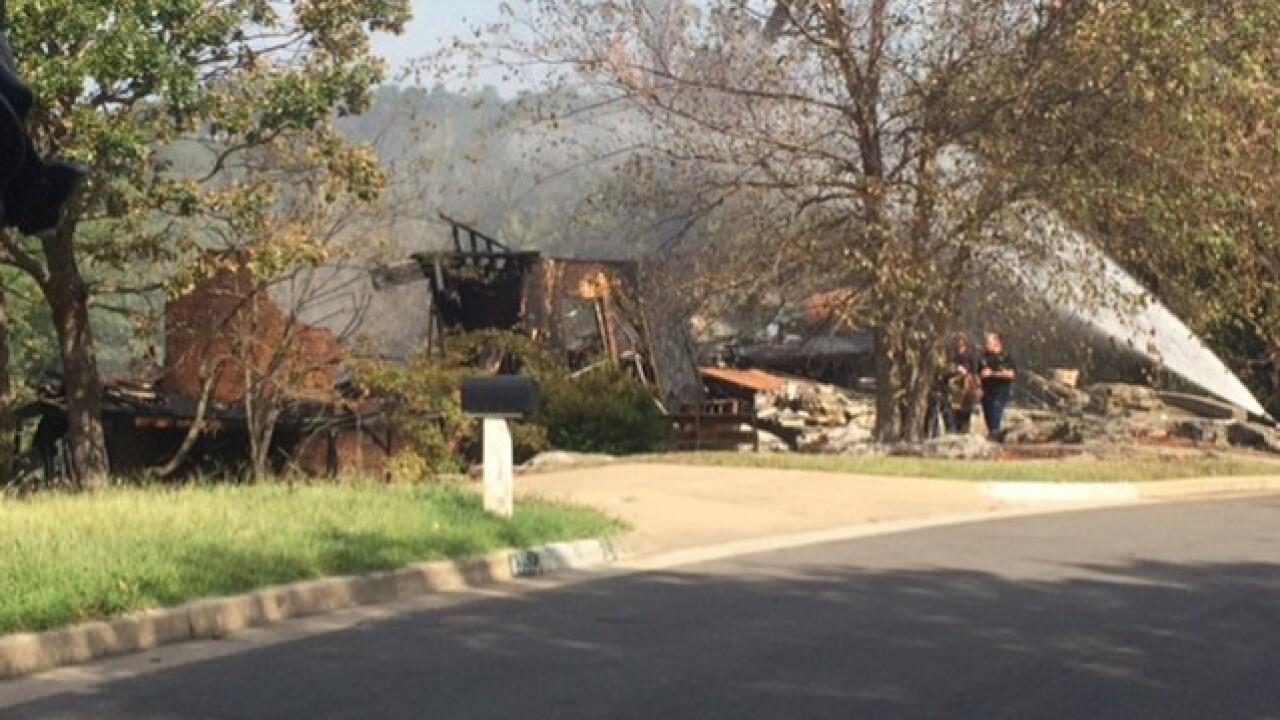 Tulsa Fire Dept. on scene of house fire