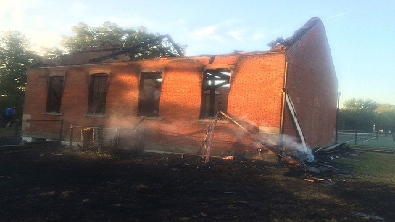 Five arrested for historic schoolhouse arson