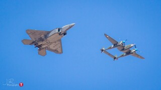 F-22 and P-38