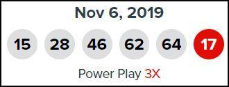 Winning Powerball Numbers for November 6
