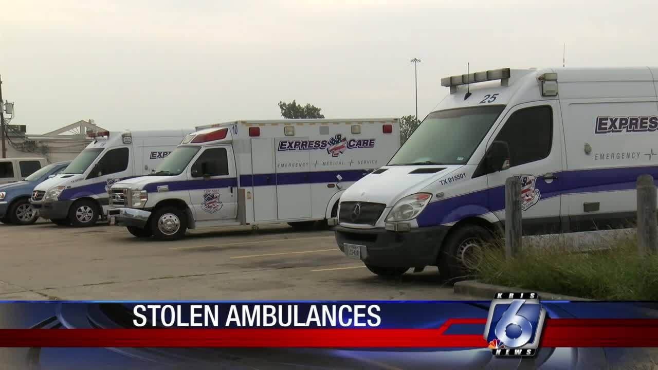 3 stolen ambulances taken from Express Care Ambulance