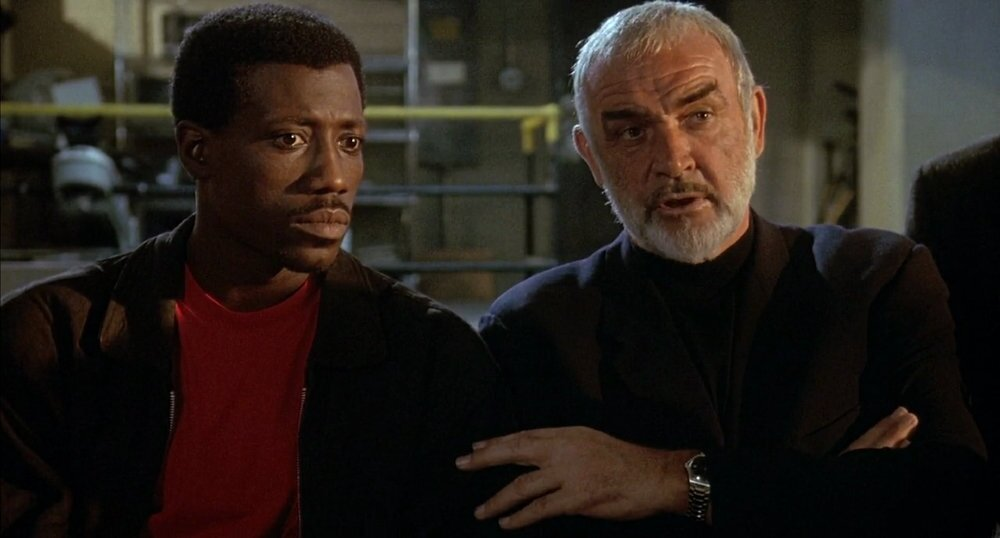 Wesley Snipes and Sean Connery in 'Rising Sun'