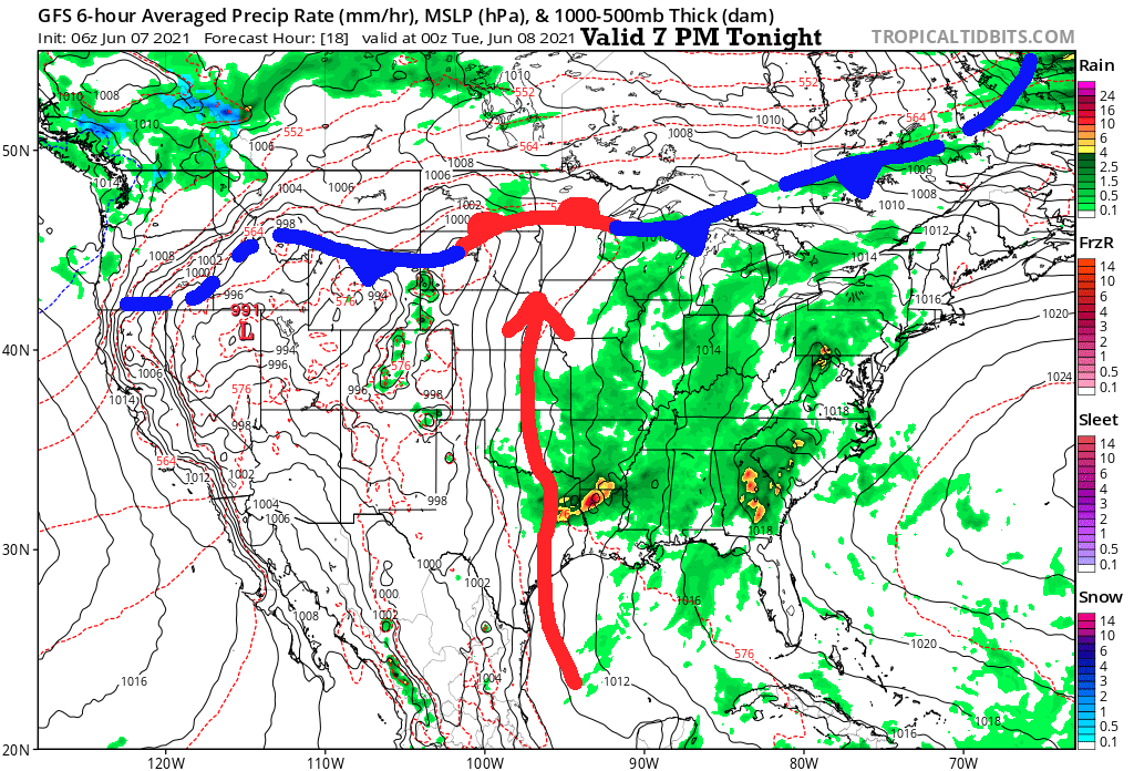 Surface Forecast This Evening