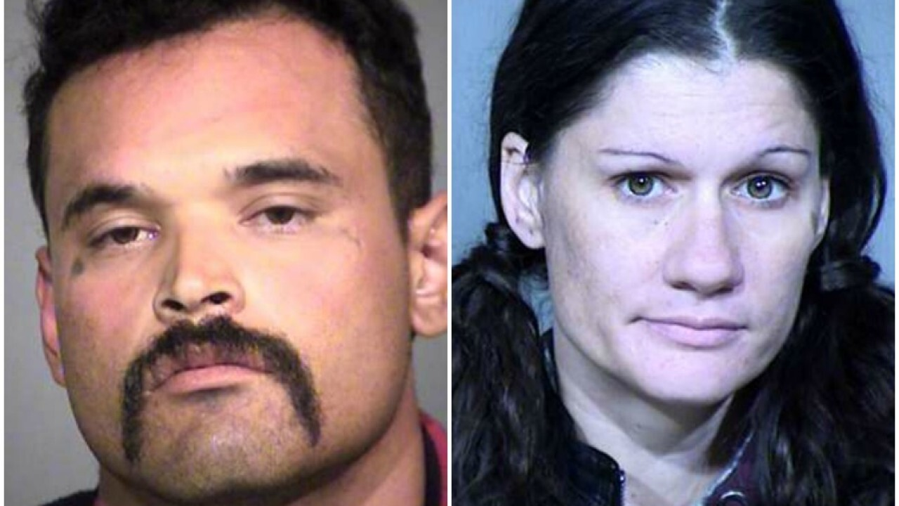 They say 31-year-old Epitacio Cortina Jr. and 32-year-old Crystal Nichole Roberto are accused of shoplifting several power tools from a Home Depot store in Scottsdale last month.