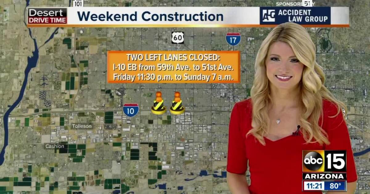 Weekend Travel Advisory (Sept. 27-30): Plan for I-10 closures